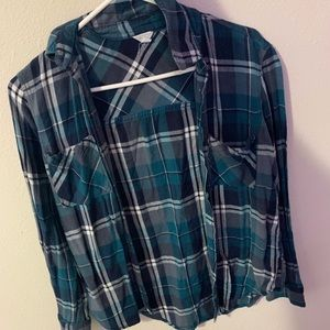 Blue Flannel. Size Small